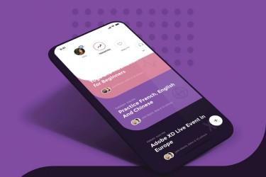 带交互原型的健身社交app ui kit素材