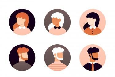 21个简洁的用户头像插画素材