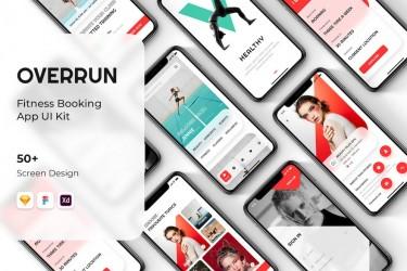 健身美容音乐会预订的App设计模板