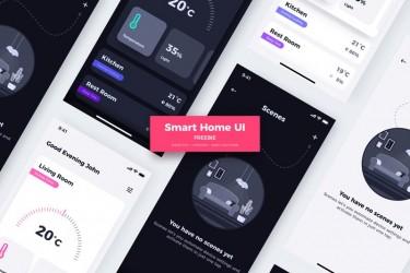 免费的智能家居app界面设计模板