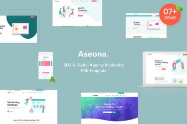 SEO数字营销网站着陆页设计模板