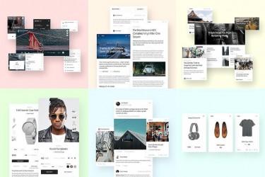现代风格的网页ui组件设计模板
