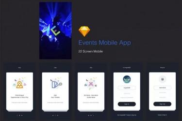 活动演出门票预定App ui设计模板