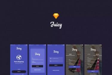 紫色系电商App ui设计模板