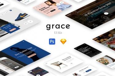 现代简约的网页ui组件Grace ui ki t