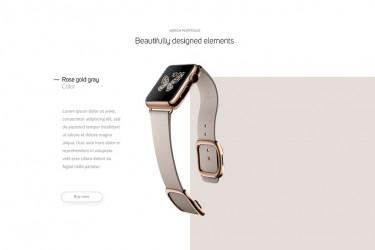 手表品牌官网界面设计模板