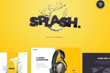 电子产品网站着陆页ui设计模板