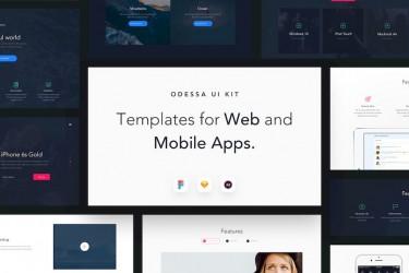 移动端桌面端网站设计模板Odessa UI Kit