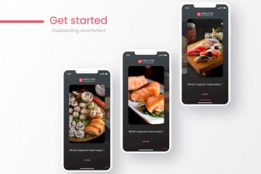 寿司外卖订餐app界面设计模板