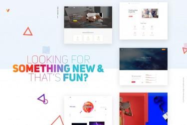 简约专业的商务网页ui设计模板