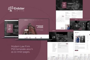 严谨的律师事务所网站设计模板