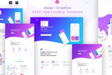 app产品宣传网站着陆页设计模板