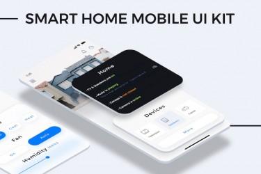 简洁的智能家居app ui设计模板