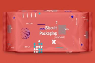 特色饼干包装袋VI样机素材