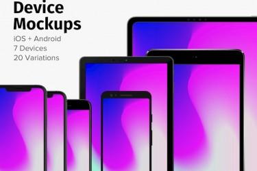 酷炫的苹果和安卓设备样机素材
