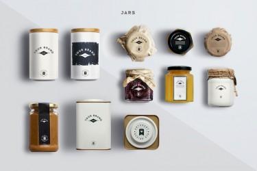 极简的包装罐子样机素材