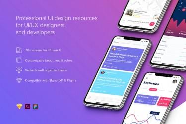 现代风格的app UI设计组件