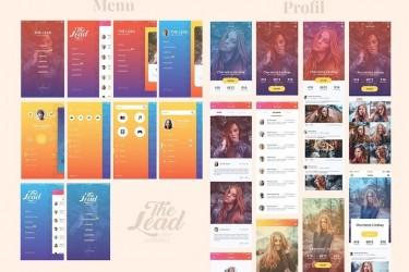 时尚的渐变色app UI设计模板
