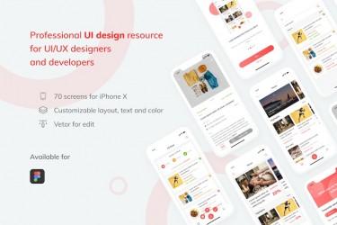适用于IOS的电商购物app设计模板