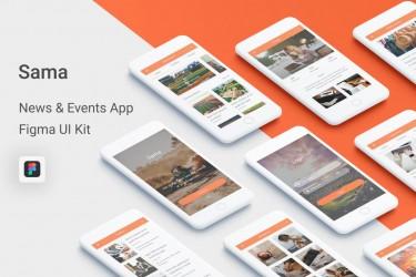 Figma格式的新闻类app ui设计模板