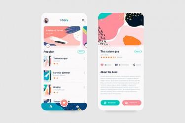 在线书籍阅读app界面设计欣赏