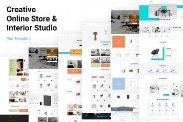 极简风格的家居电商网站设计模板