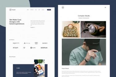 现代时尚的网页ui设计组件