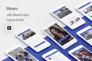 Figma格式的找工作app设计模板