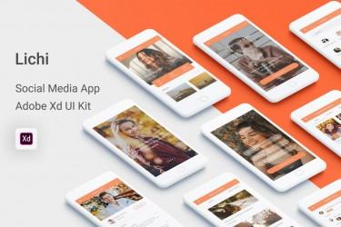 现代时尚的社交app设计模板