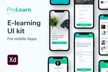 便捷的在线学习app ui设计模板