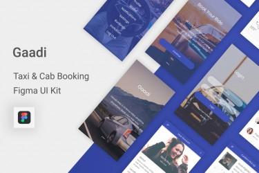 Figma格式的打车app ui设计模板