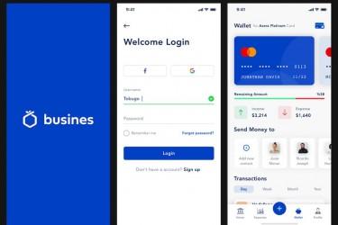 免费的手机银行app ui设计模板