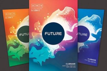 未来科技感主题海报设计模板