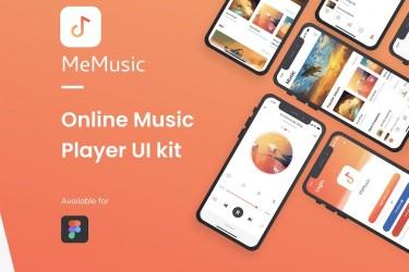 Figma格式的音乐app ui设计模板