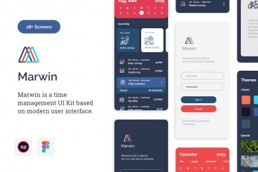 好用的时间管理app ui设计模板