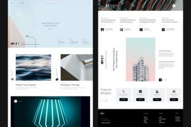 时尚多用途的网页ui设计组件模板