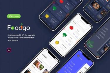 精致的美食外卖app界面设计模板