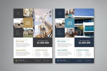 简约的房地产宣传海报设计模板