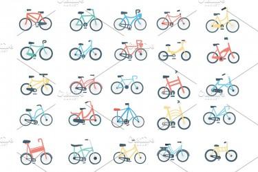 40个特色的自行车矢量图标素材