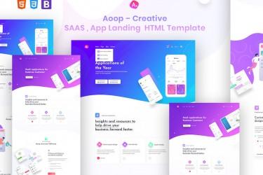 简洁的app宣传网站着陆页html设计模板