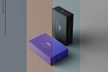 多用途的简约产品包装盒样机素材