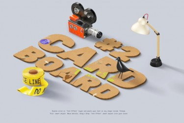 科技感的3d立体海报设计模板