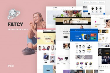 新颖有创意的电商网站设计模板