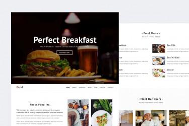 创意的美食餐厅网站html设计模板