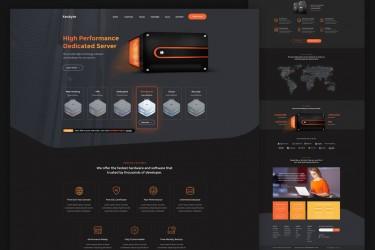 充满科技感的网站着陆页设计模板
