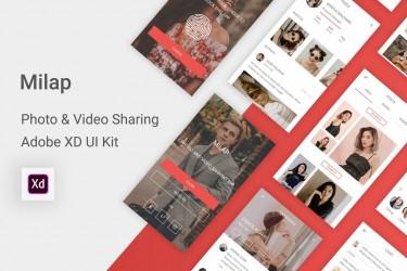 创意的照片和视频共享app设计模板