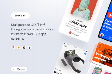简洁多用途的ios app界面设计模板