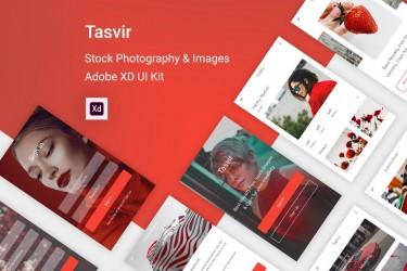 简洁的摄影和图像共享app设计模板