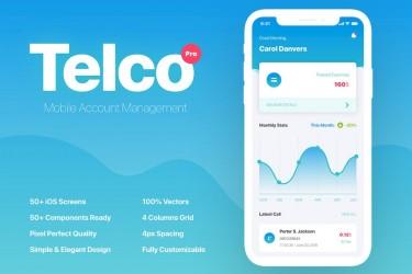 小清新的多功能app UI设计模板