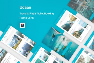 小清新的旅行和航班预订app设计模板